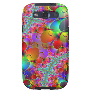 Vibrant Peacocks Tails Galaxy SIII Cases