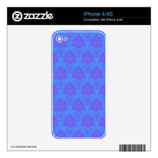 Vibrant Periwinkle Blue Purple Modern Pattern Decals For The iPhone 4