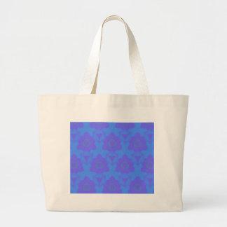 Vibrant Periwinkle Blue Purple Modern Pattern Large Tote Bag