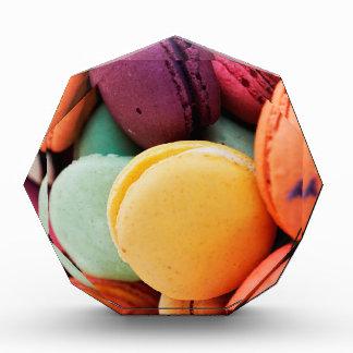 Vibrant Pile French Macaron Cookies Acrylic Award