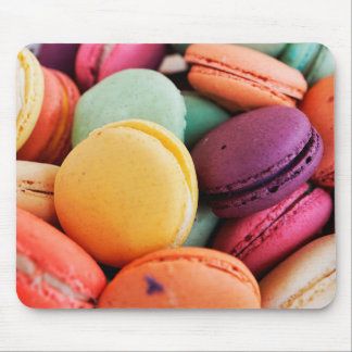 Vibrant Pile French Macaron Cookies Mouse Pad