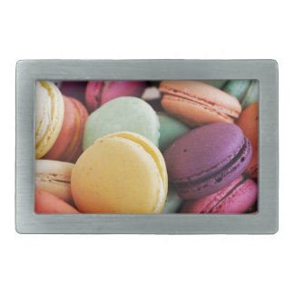 Vibrant Pile French Macaron Cookies Rectangular Belt Buckle