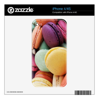 Vibrant Pile French Macaron Cookies Skin For The iPhone 4