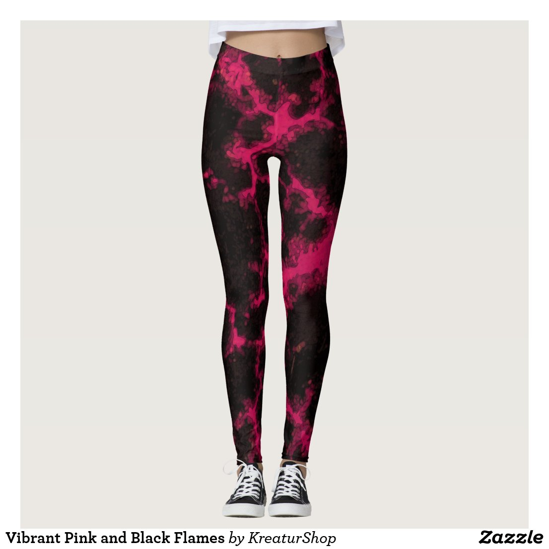 Vibrant Pink and Black Flames