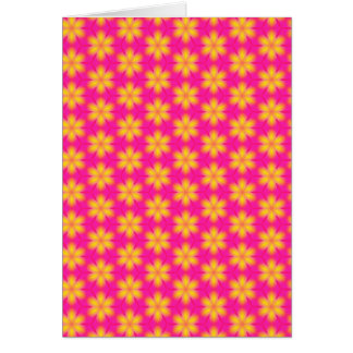 Vibrant Pink and Yellow Floral Abstract Pattern Card