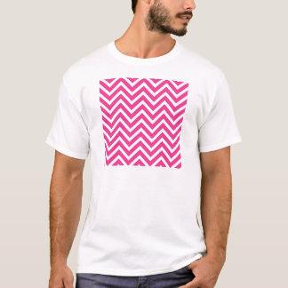 Vibrant Pink Chevron Pattern T-Shirt