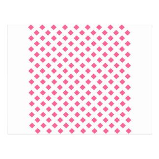Vibrant Pink Diamond Pattern Postcard