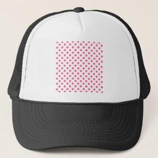 Vibrant Pink Diamond Pattern Trucker Hat
