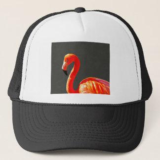 Vibrant Pink Flamingo Trucker Hat