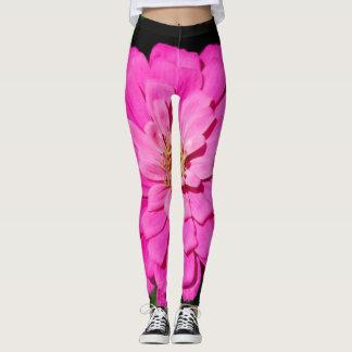 Vibrant  Pink flower leggings