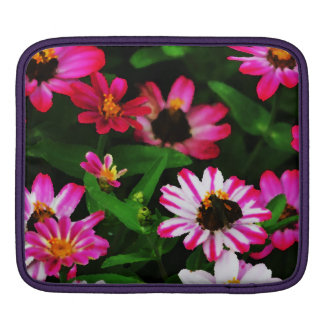 vibrant pink flowers Ipad sleeve