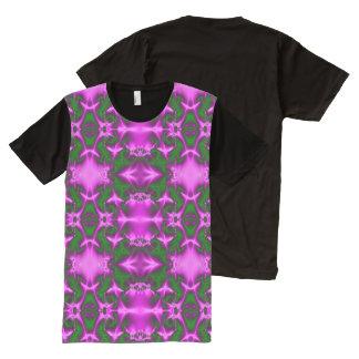 Vibrant Pink Green design All-Over-Print Shirt