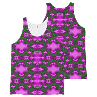 Vibrant Pink Green design All-Over-Print Tank Top