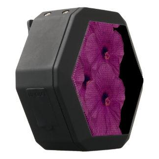 Vibrant Pink Purple Flowers Black Bluetooth Speaker