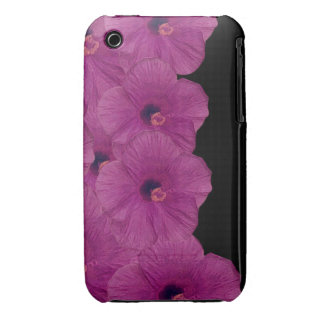 Vibrant Pink Purple Flowers Case-Mate iPhone 3 Case
