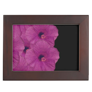 Vibrant Pink Purple Flowers Keepsake Box