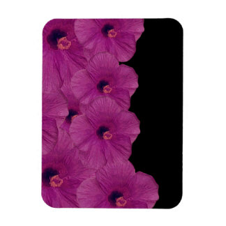 Vibrant Pink Purple Flowers Magnet