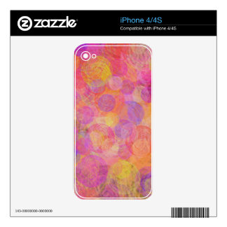 Vibrant pink, purple & yellow vintage swirls skin for the iPhone 4
