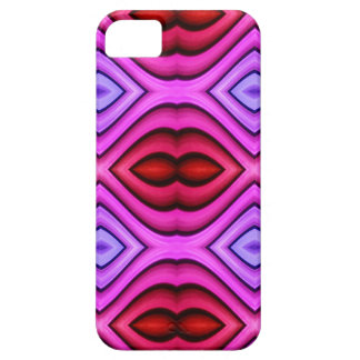 Vibrant Pink Red Flourescent Lips Shaped Pattern iPhone SE/5/5s Case