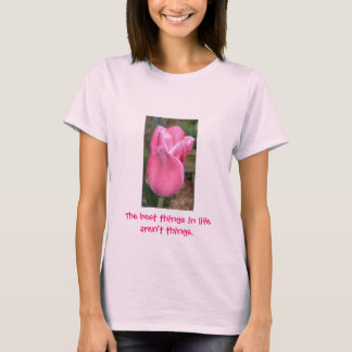 Vibrant pink tulip shirt - colorful and lively