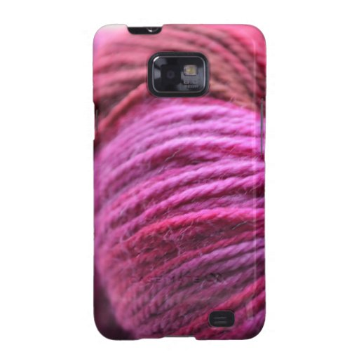 Vibrant Pink Yarn Galaxy SII Covers