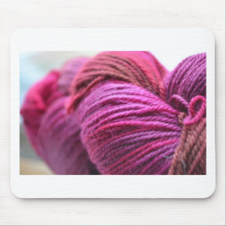 Vibrant Pink Yarn Mouse Pad