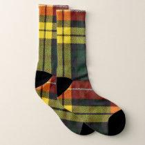 Vibrant plaid pattern socks
