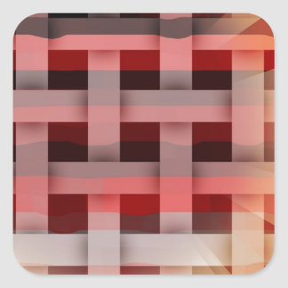 Vibrant Plaid Square Sticker