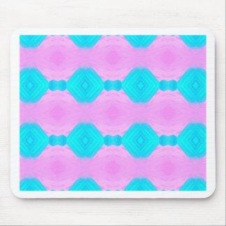 Vibrant Pop Culture Pink Blue Pastels Patterns Mouse Pad