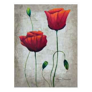 Vibrant Poppies 1 Postcard