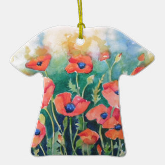 Vibrant Poppies Ceramic T-Shirt Decoration