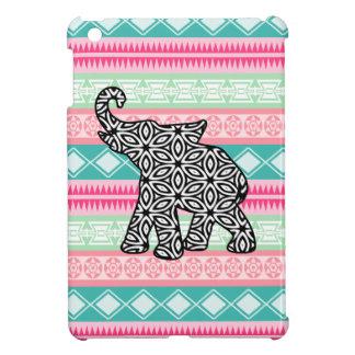 Vibrant Pretty Aztec Elephant iPad Mini Case