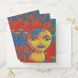 Vibrant Primary Colors Artistic Face Pocket Folder