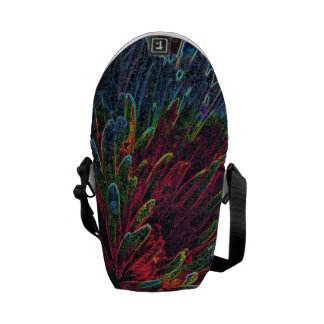 Vibrant Psychedelic Abstract Messenger Bag