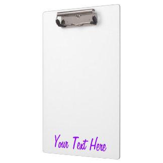Vibrant Purple Accent Color Customizable Clipboard