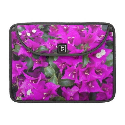 Vibrant Purple Bougainvillea Flowers MacBook Pro Sleeve