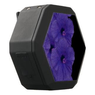 Vibrant Purple Flowers Black Bluetooth Speaker