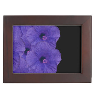 Vibrant Purple Flowers Keepsake Box