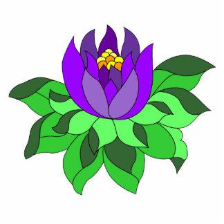 Vibrant Purple Lotus Flower  Standing Photo Sculpture