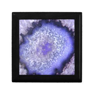 Vibrant Purple Mineral Stone Jewelry Box