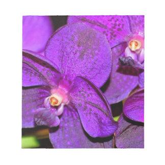 Vibrant Purple Orchid Flower Memo Note Pads