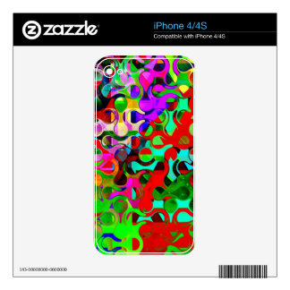 Vibrant Rainbow Colored Pattern Abstract Skin For iPhone 4S
