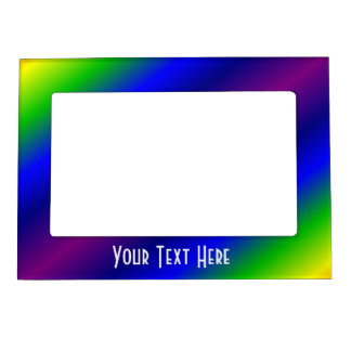 Vibrant Rainbow Colors Magnetic Frame