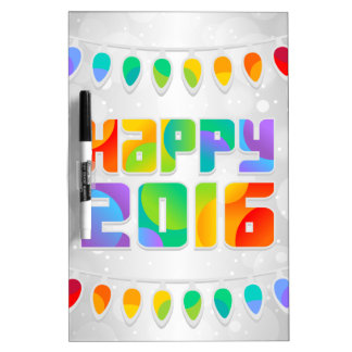 vibrant rainbow happy new year dry erase board - Dry Erase Board Paint