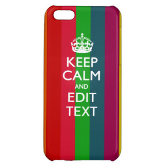 Vibrant Rainbow Keep Calm And Your Text Customize iPhone 5C Covers
