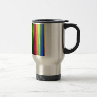 Vibrant Rainbow Panels Travel Mug