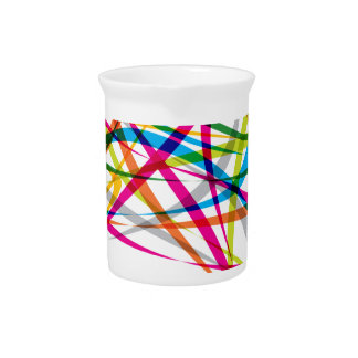 Vibrant Rainbow Twisted Pattern Drink Pitcher