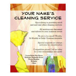 Cleaning Flyers & Programs | Zazzle