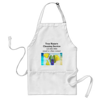Vibrant Rays Custom Cleaning Service Business Adult Apron