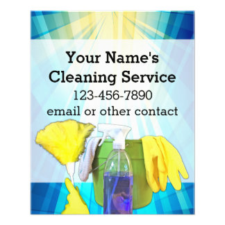Vibrant Rays Custom Cleaning Service Business Flyer